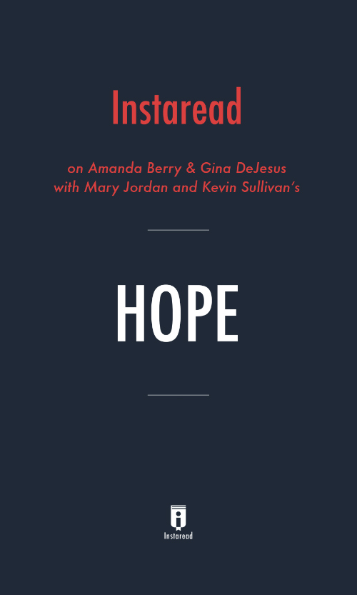 """Book Cover for """"Hope"""""""