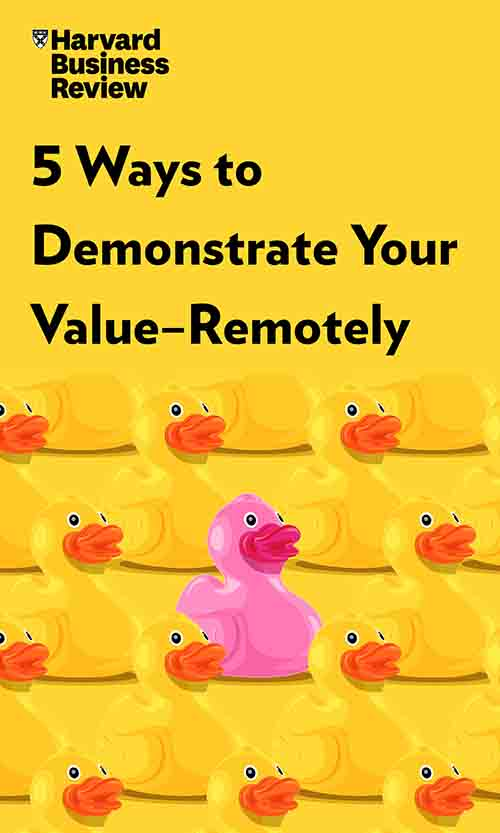 "Book Cover for ""5 Ways to Demonstrate Your Value—Remotely"""