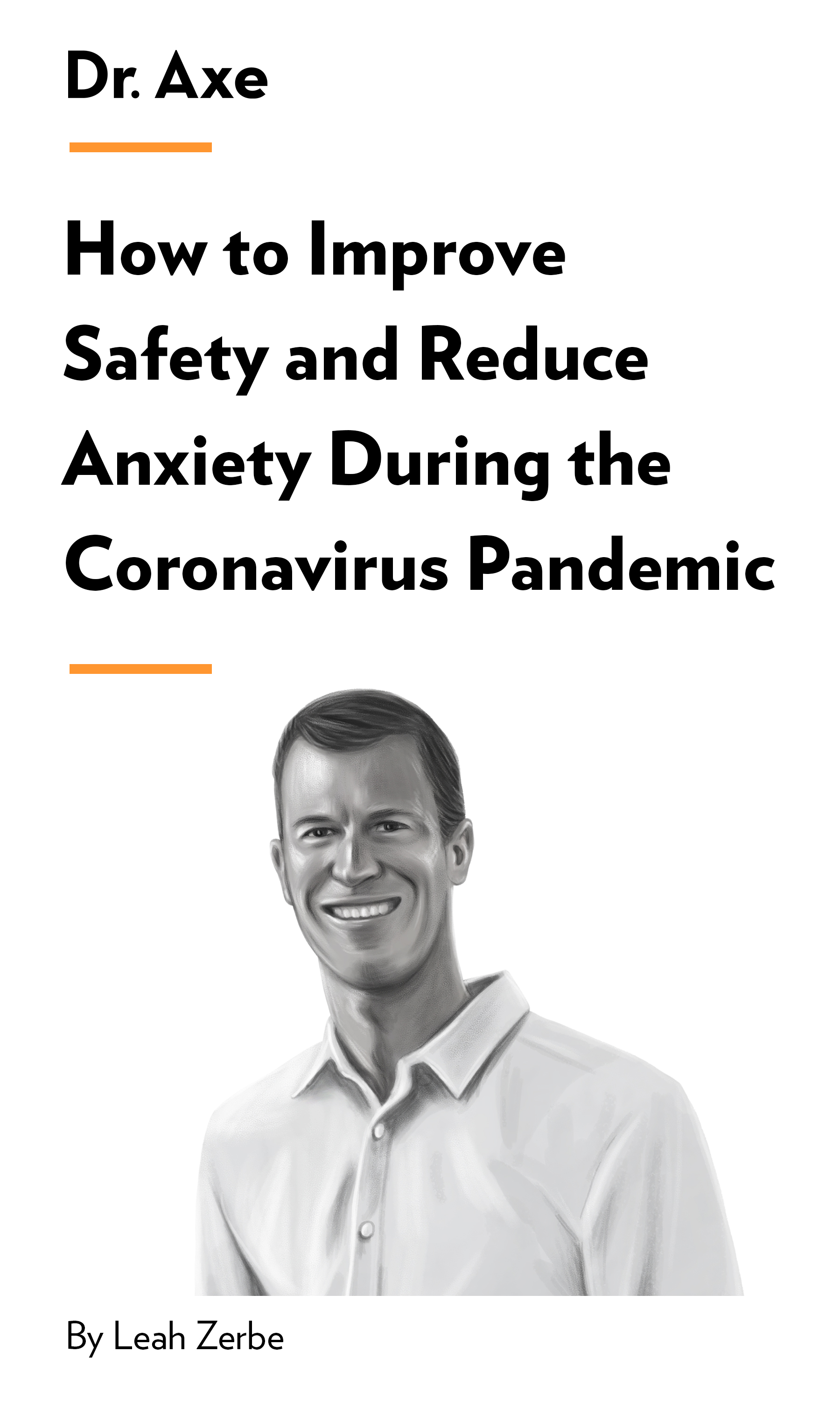 "Book Cover for ""How to Improve Safety and Reduce Anxiety During the Coronavirus Pandemic"""