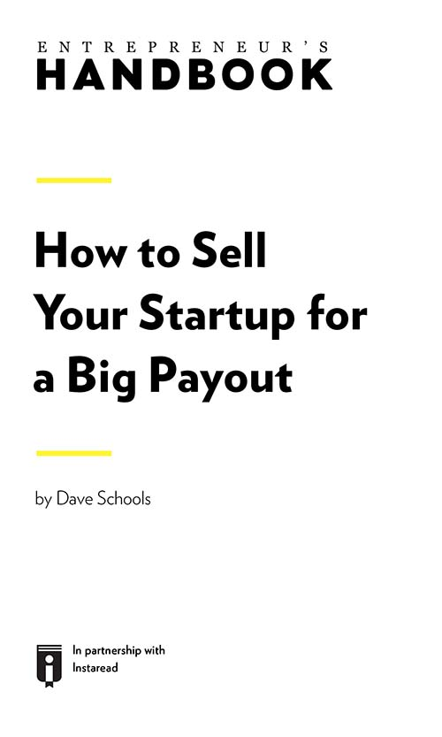 "Book Cover for ""How to Sell Your Startup for a Big Payout"""