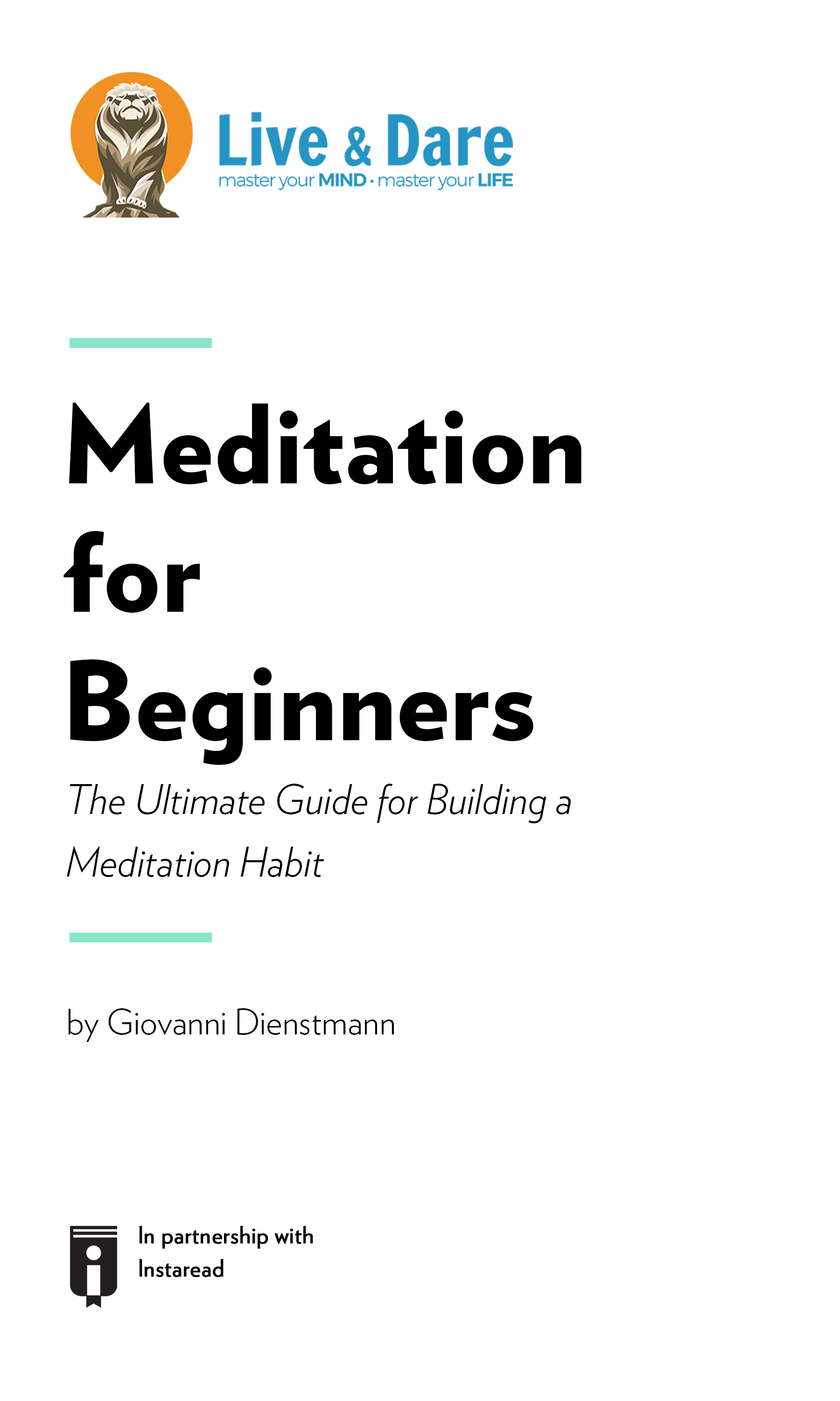 """Book Cover for """"Meditation for Beginners – The Ultimate Guide for Building a Meditation Habit"""""""