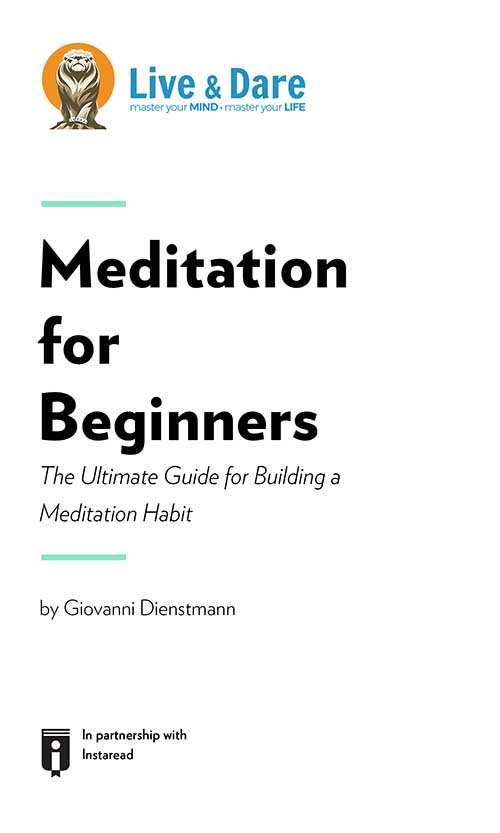 "Book Cover for ""Meditation for Beginners – The Ultimate Guide for Building a Meditation Habit"""