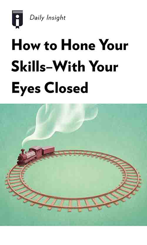 "Book Cover for ""How to Hone Your Skills—With Your Eyes Closed"""