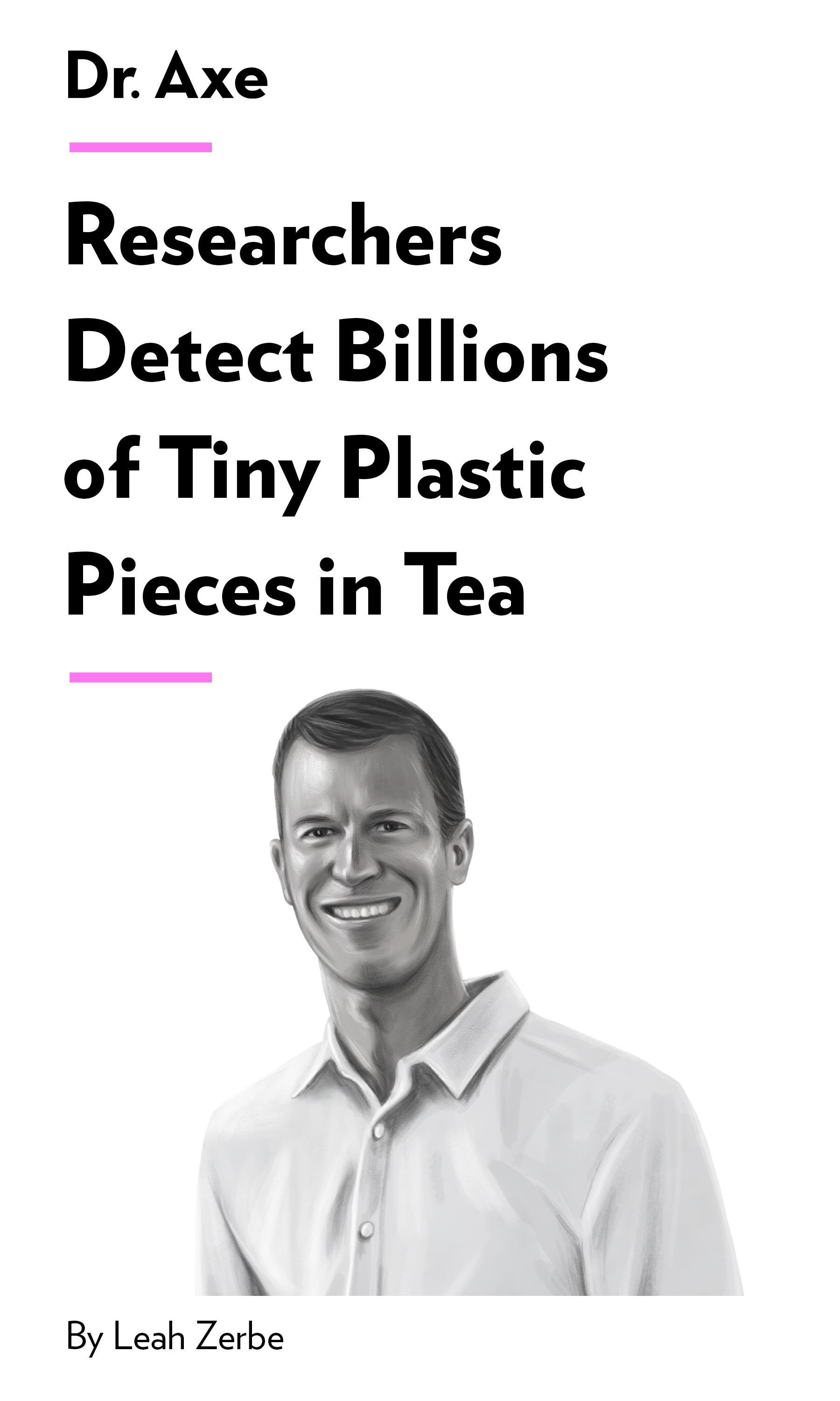 """Book Cover for """"Researchers Detect Billions of Tiny Plastic Pieces in Tea"""""""