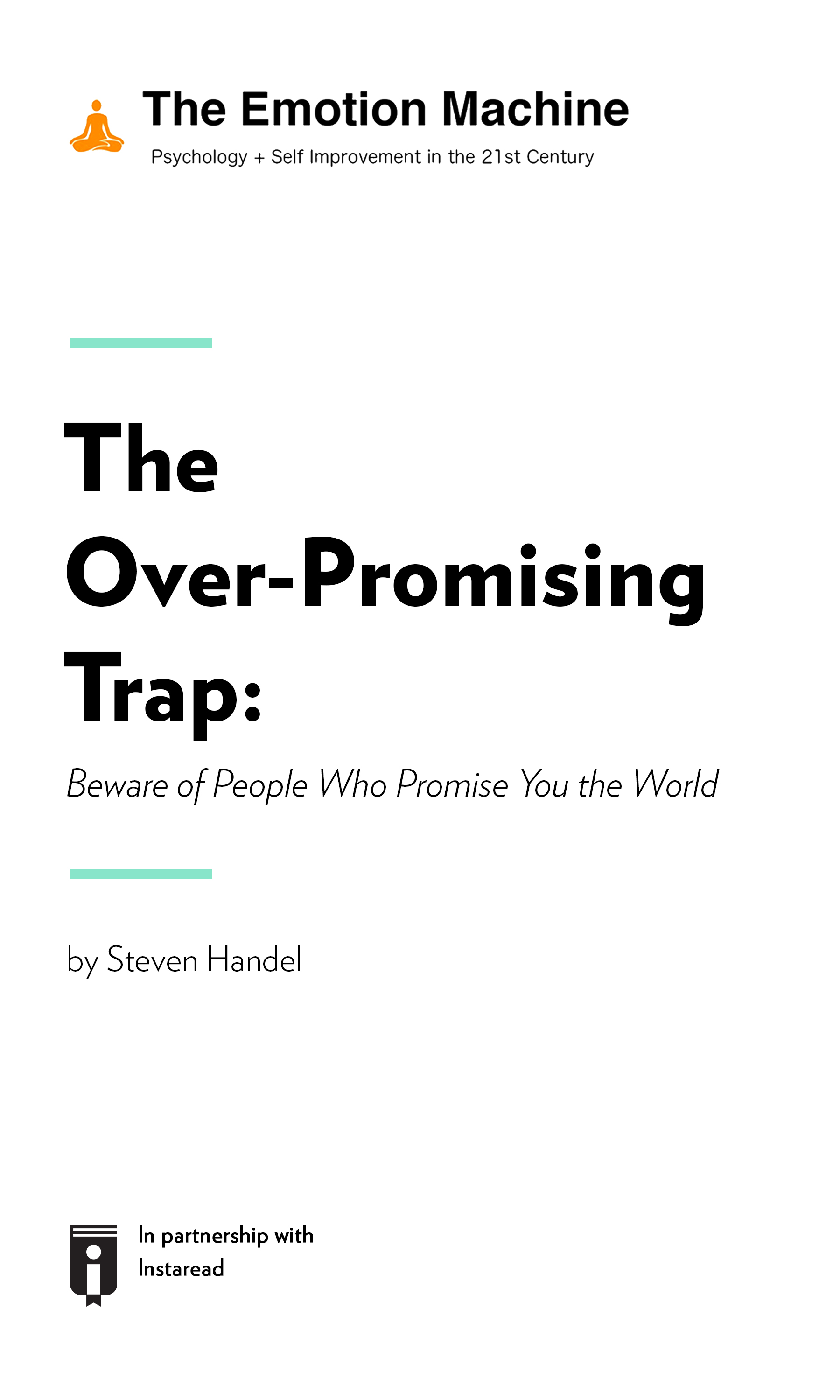 "Book Cover for ""The Over-Promising Trap: Beware of People Who Promise You the World"""