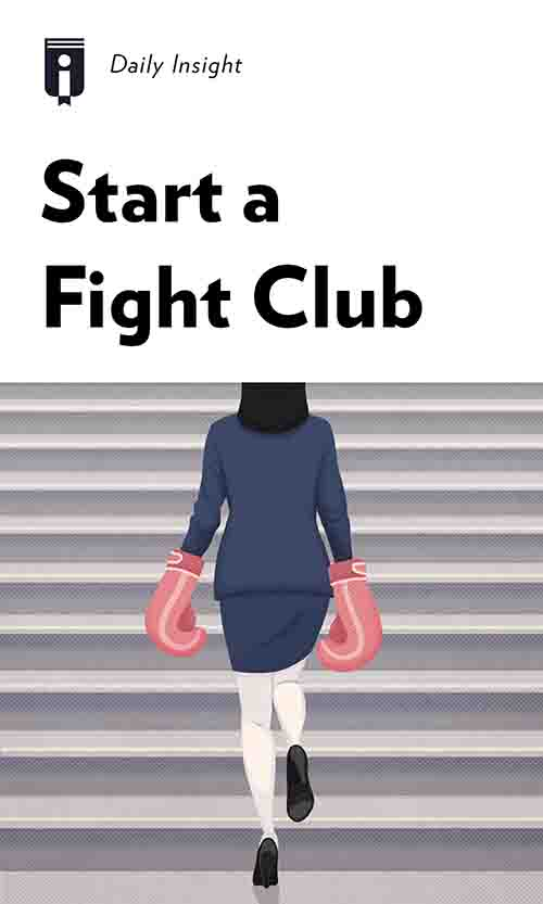 "Book Cover for ""Start a Fight Club"""