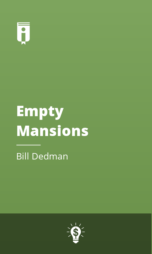 """Book Cover for """"Empty Mansions"""""""