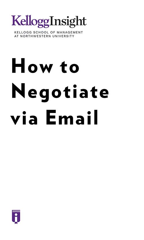 "Book Cover for ""How to Negotiate via Email"""