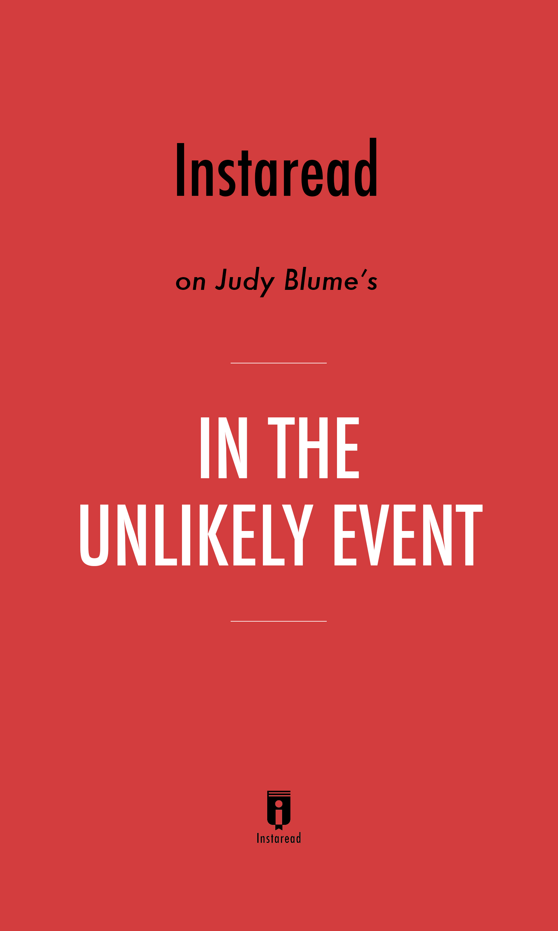 "Book Cover for ""In the Unlikely Event"""