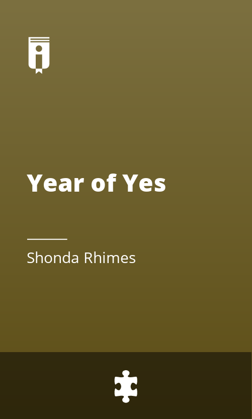 """Book Cover for """"Year of Yes"""""""