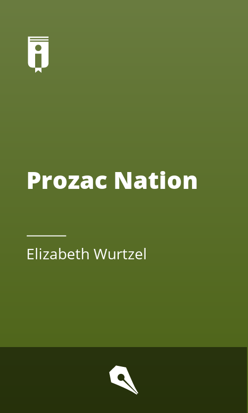 """Book Cover for """"Prozac Nation"""""""