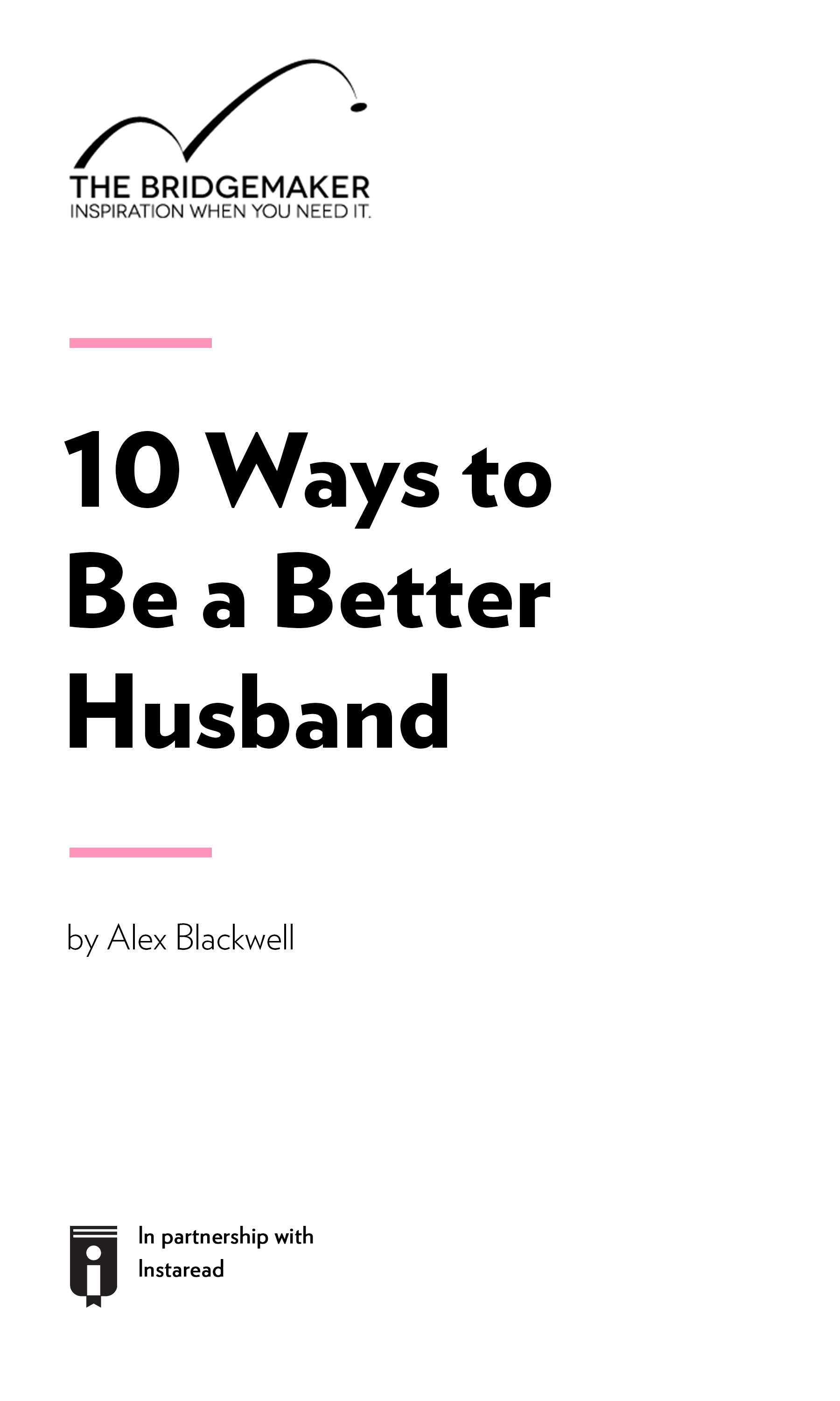 """Book Cover for """"10 Ways to Be A Better Husband"""""""