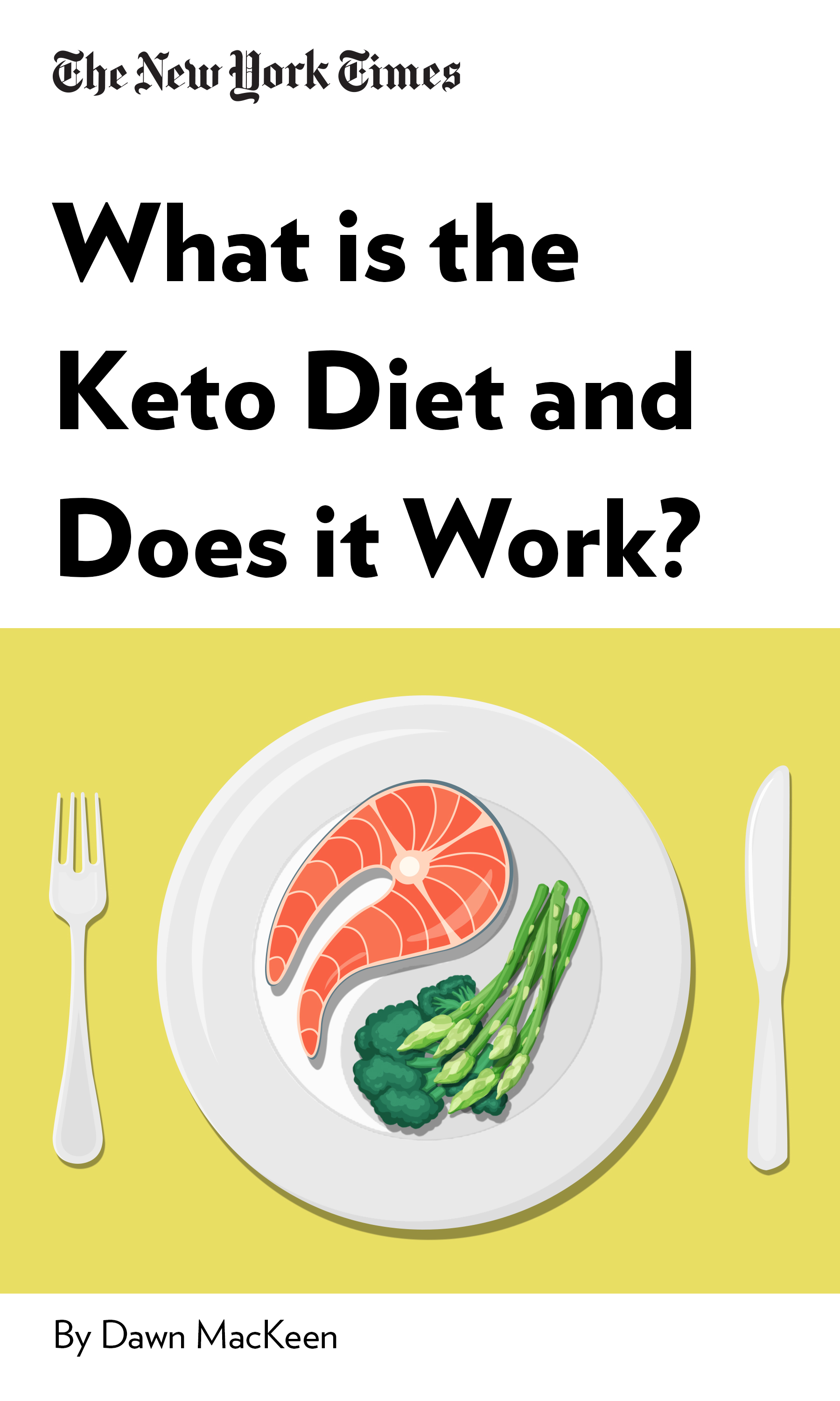 """Book Cover for """"What is the Keto Diet and Does it Work?"""""""