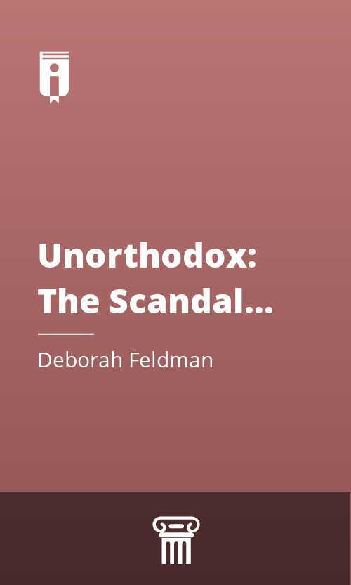 """Book Cover for """"Unorthodox: The Scandalous Rejection of My Hasidic Roots"""""""