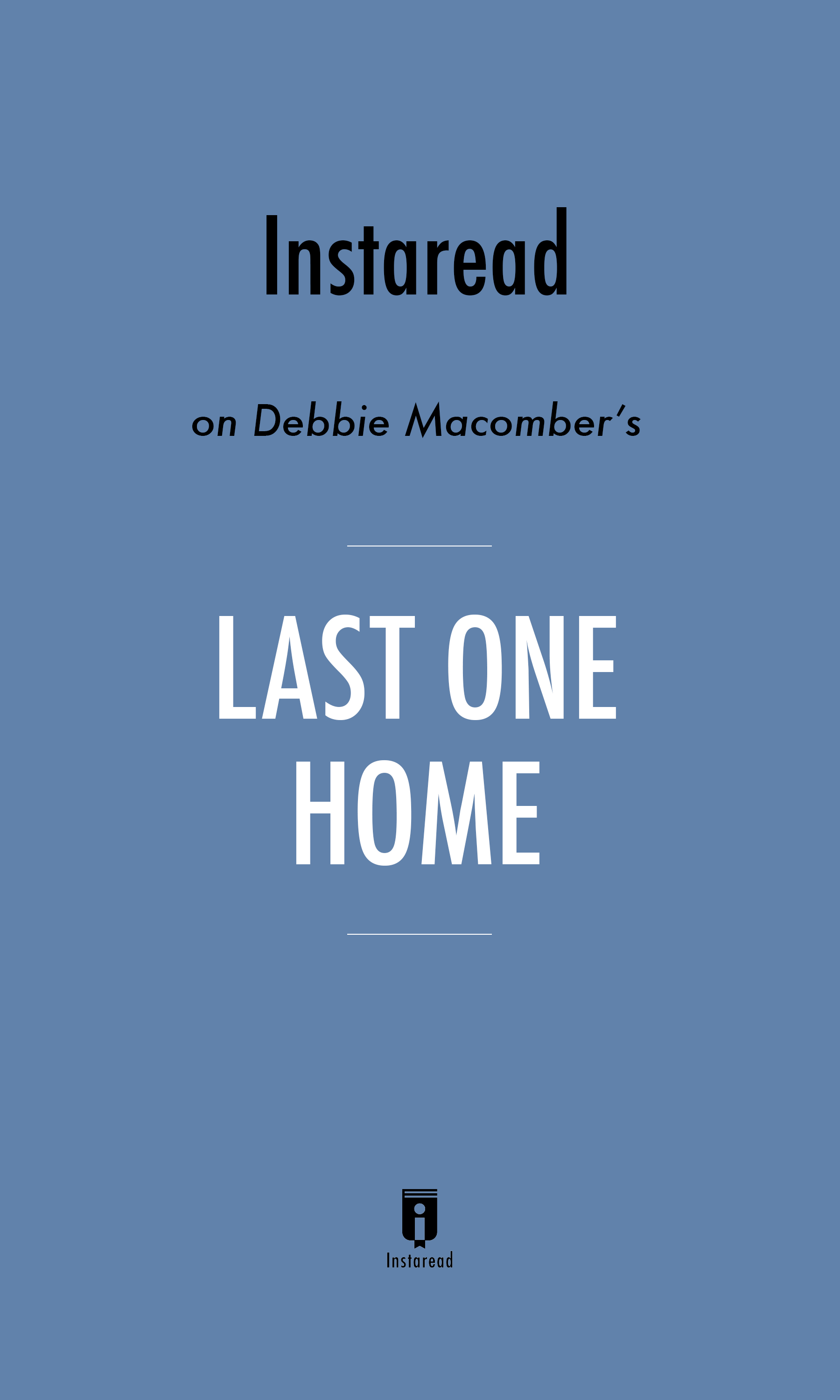 "Book Cover for ""Last One Home"""