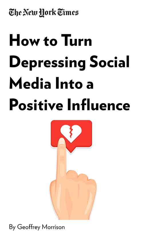 "Book Cover for ""How to Turn Depressing Social Media Into a Positive Influence"""