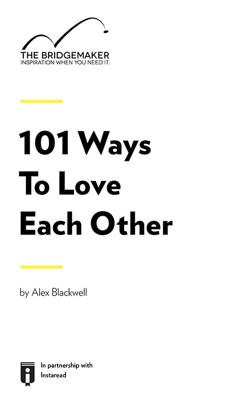 "Book Cover for ""101 Ways To Love Each Other"""