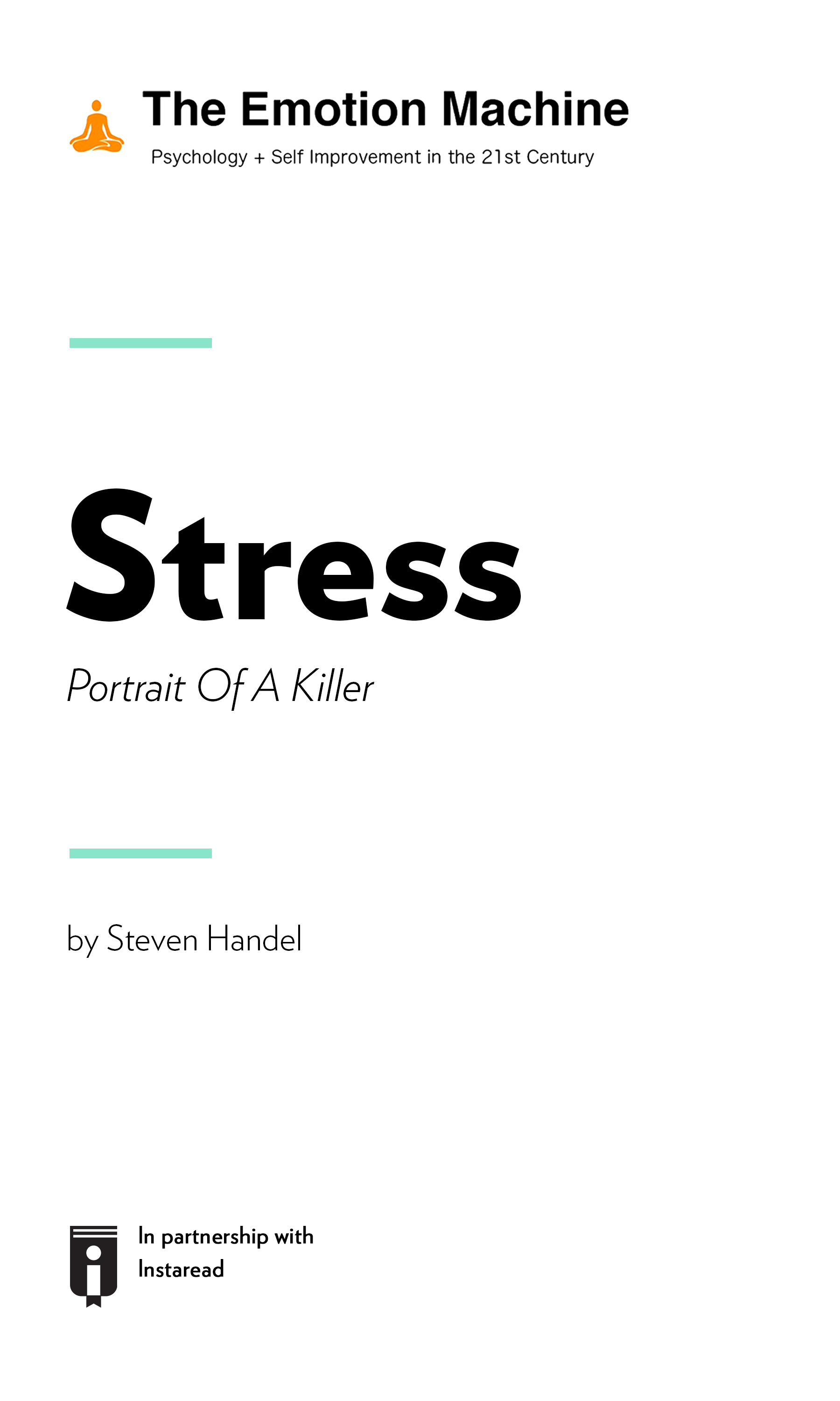 """Book Cover for """"Stress: Portrait Of A Killer"""""""