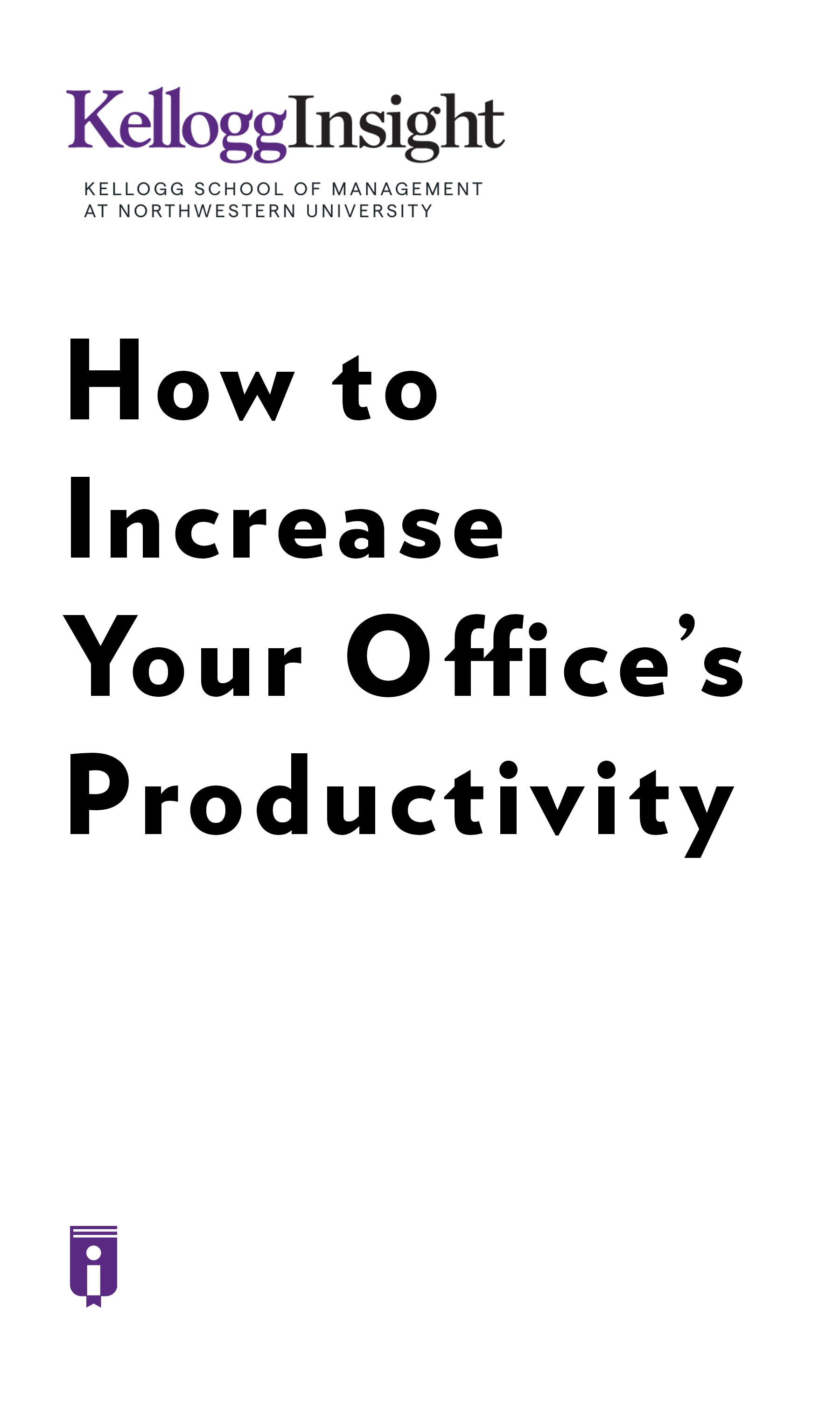 "Book Cover for ""How to Increase Your Office's Productivity"""