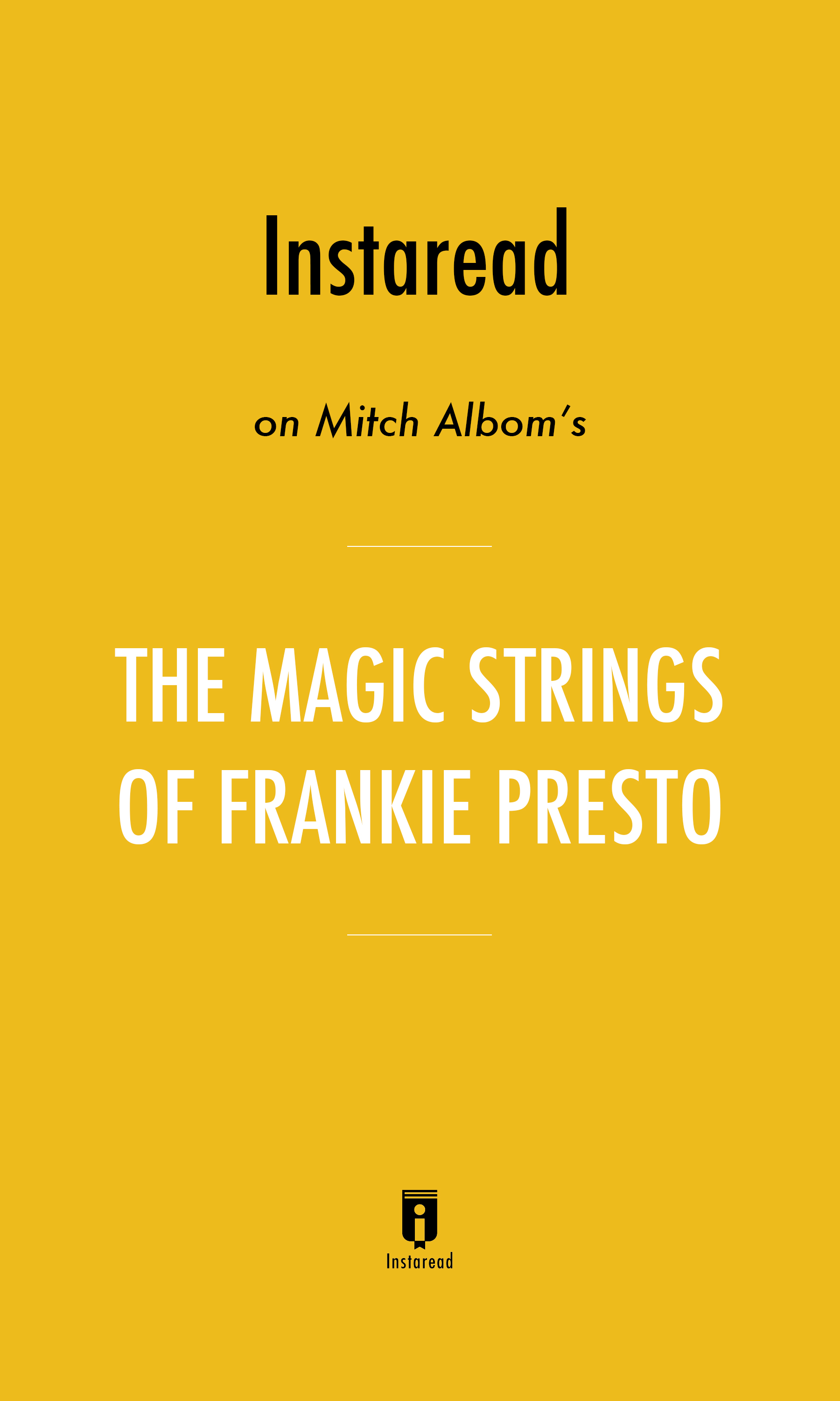 "Book Cover for ""The Magic Strings of Frankie Presto"""