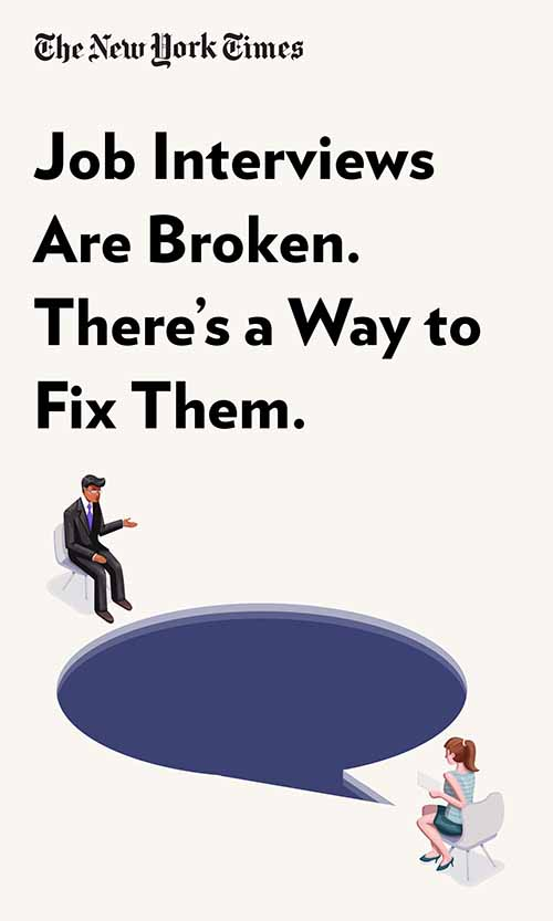 "Book Cover for ""Job Interviews Are Broken. There's a Way to Fix Them."""