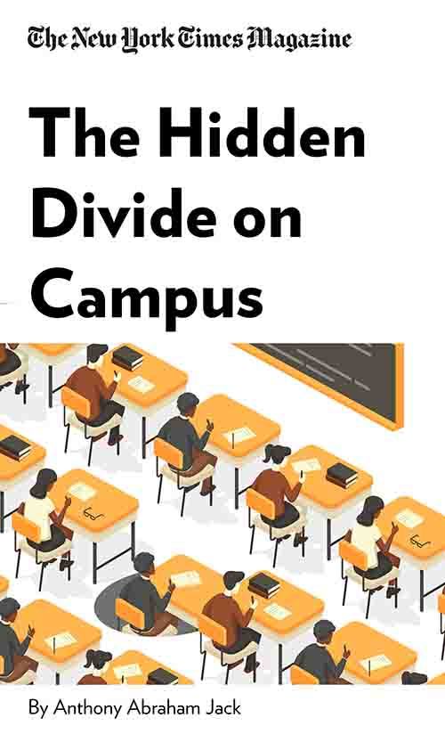"Book Cover for ""The Hidden Divide on Campus"""