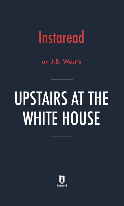 "Book Cover for ""Upstairs at the White House"""