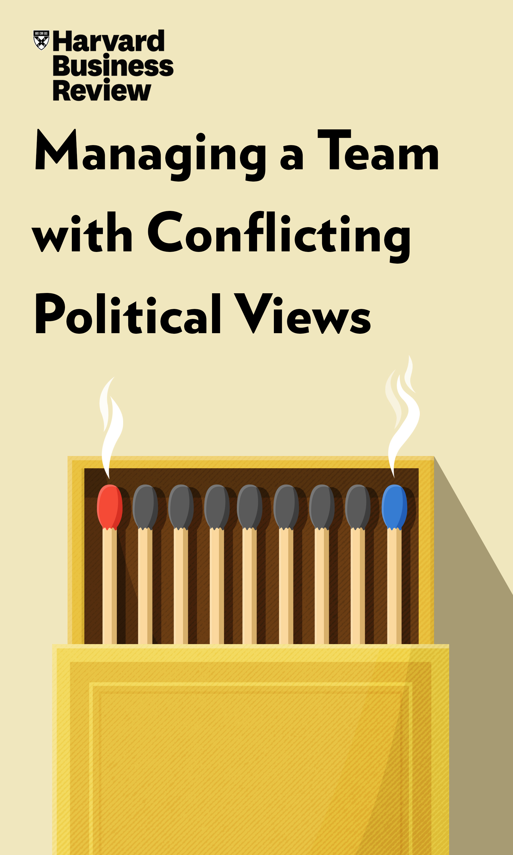 "Book Cover for ""Managing a Team with Conflicting Political Views"""