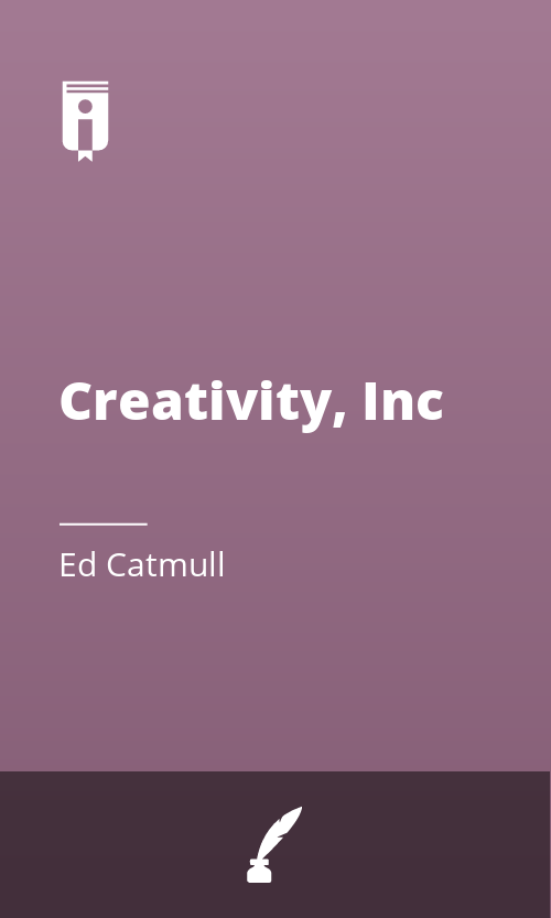 "Book Cover for ""Creativity, Inc"""