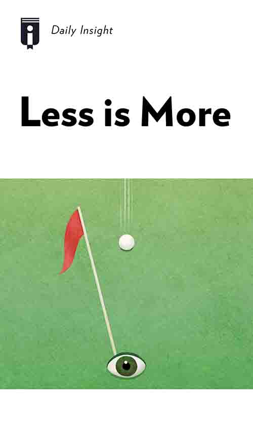 "Book Cover for ""Less is More"""