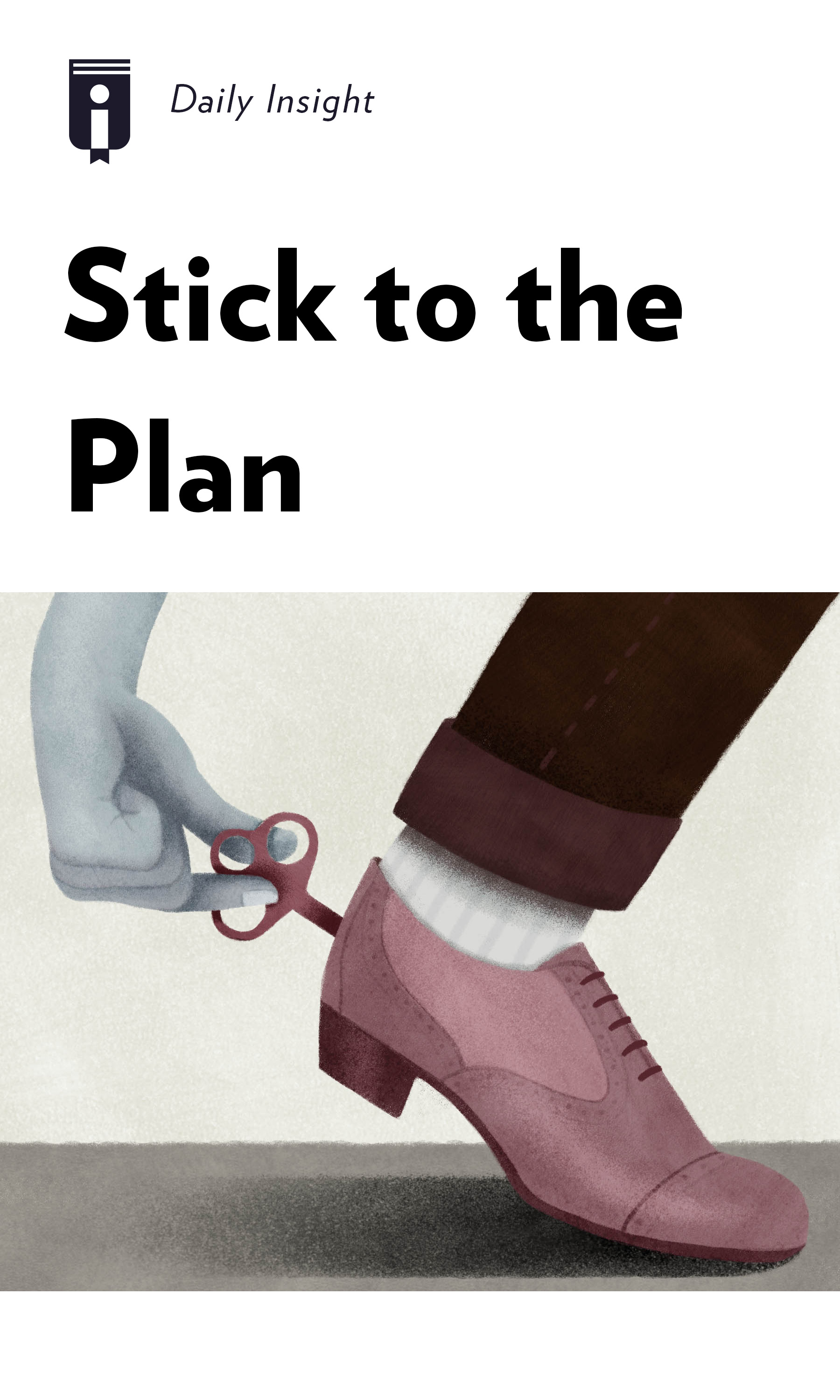 """Book Cover for """"Stick to the Plan"""""""