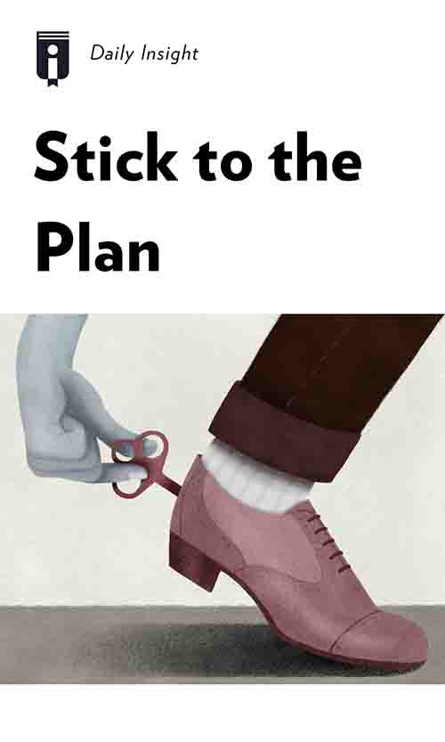 "Book Cover for ""Stick to the Plan"""