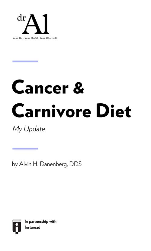 "Book Cover for ""Cancer & Carnivore Diet -My Update"""