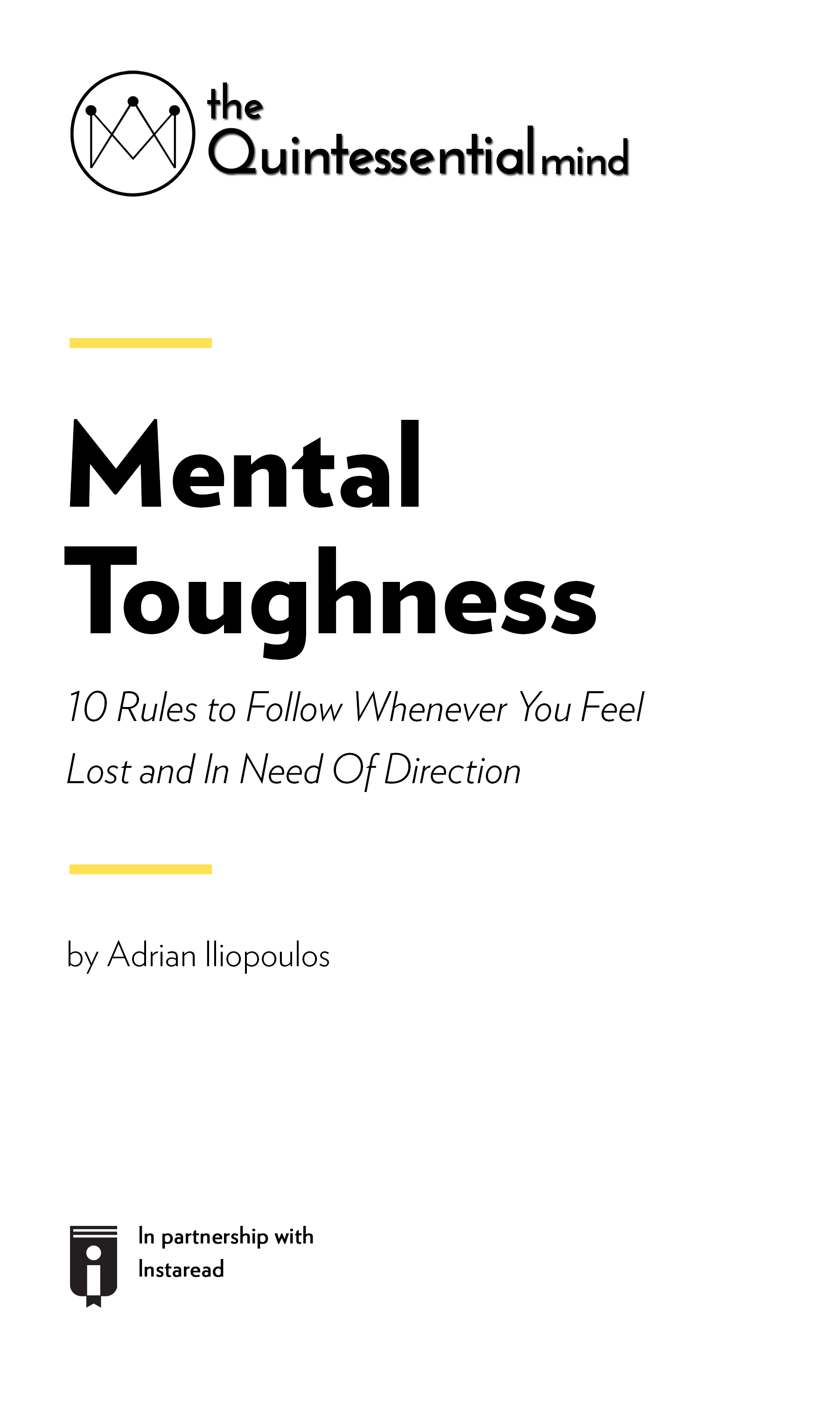 "Book Cover for ""Mental Toughness – 10 Rules to Follow Whenever You Feel Lost and In Need Of Direction"""