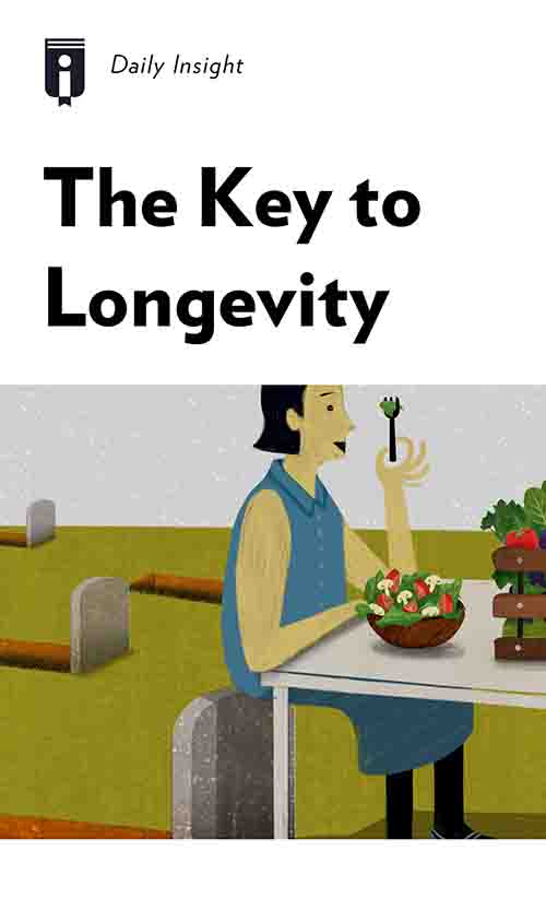 "Book Cover for ""The Key to Longevity"""