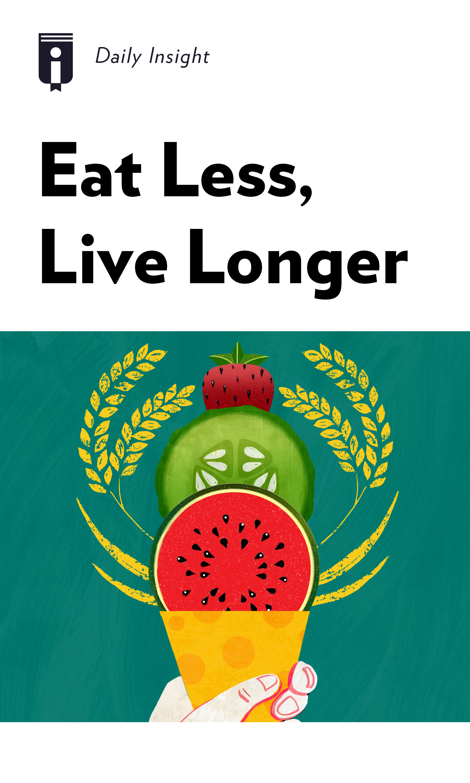 "Book Cover for ""Eat Less, Live Longer"""