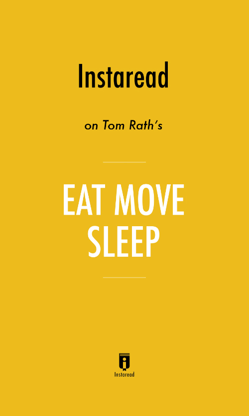 "Book Cover for ""Eat Move Sleep"""