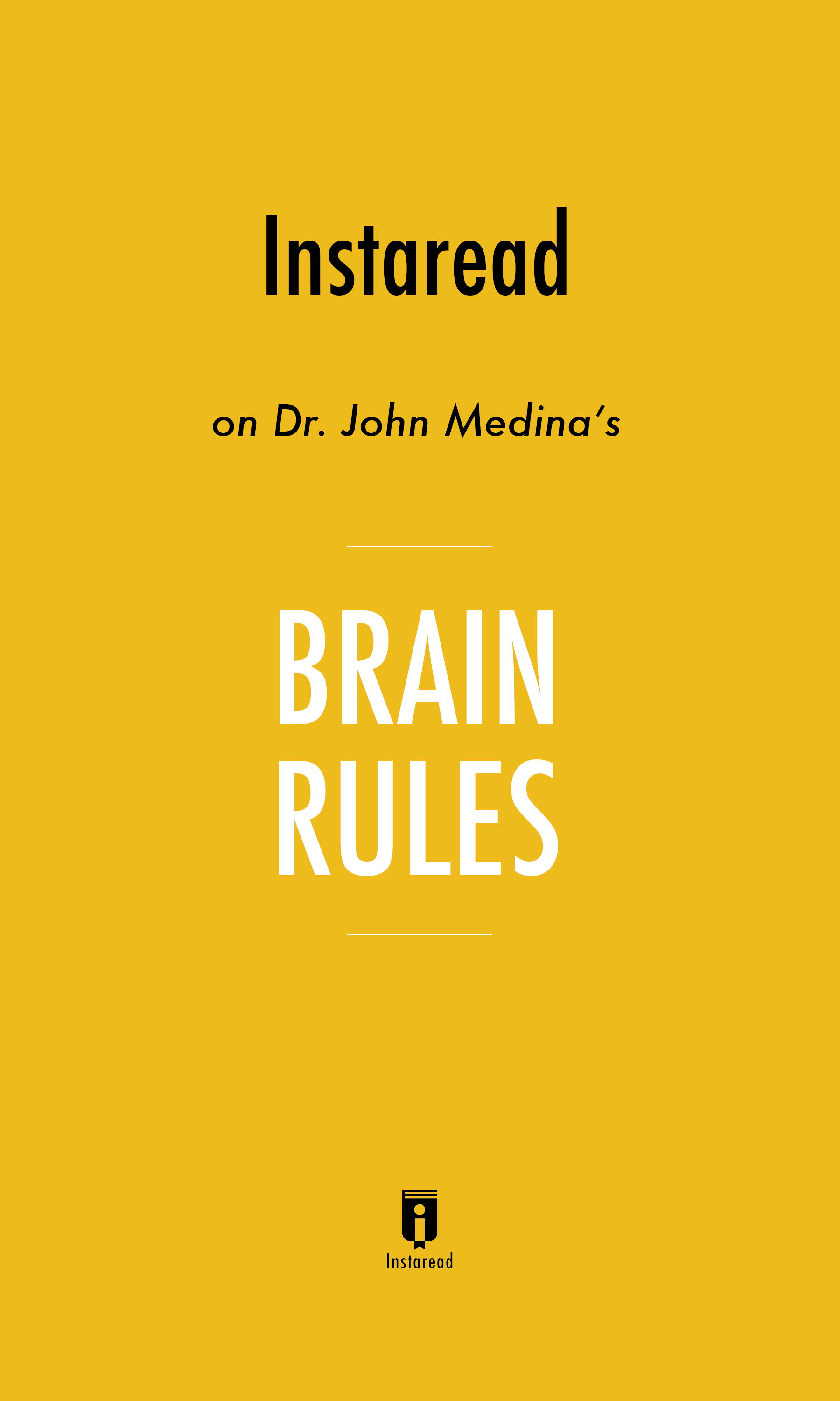 """Book Cover for """"Brain Rules"""""""