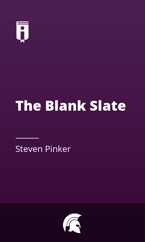 "Book Cover for ""The Blank Slate"""
