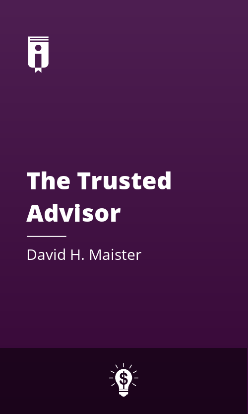 """Book Cover for """"The Trusted Advisor"""""""