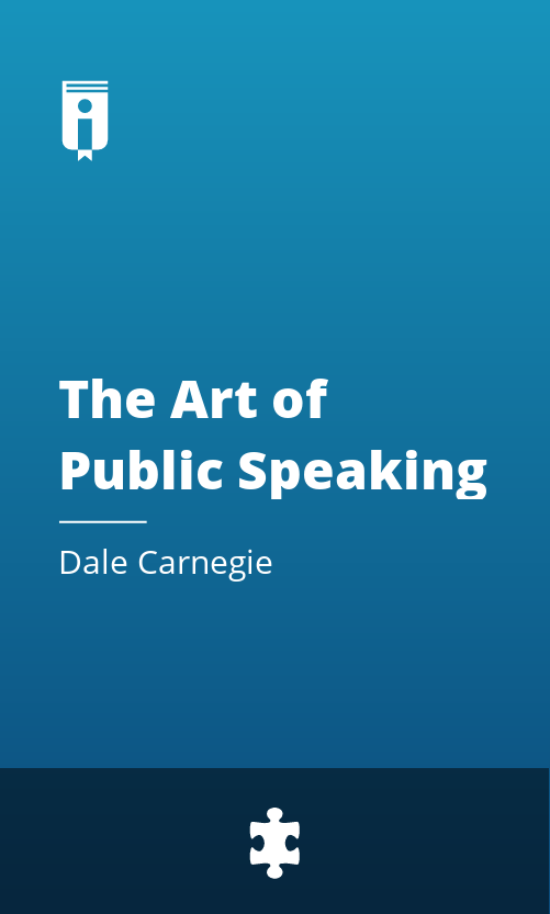 "Book Cover for ""The Art of Public Speaking"""