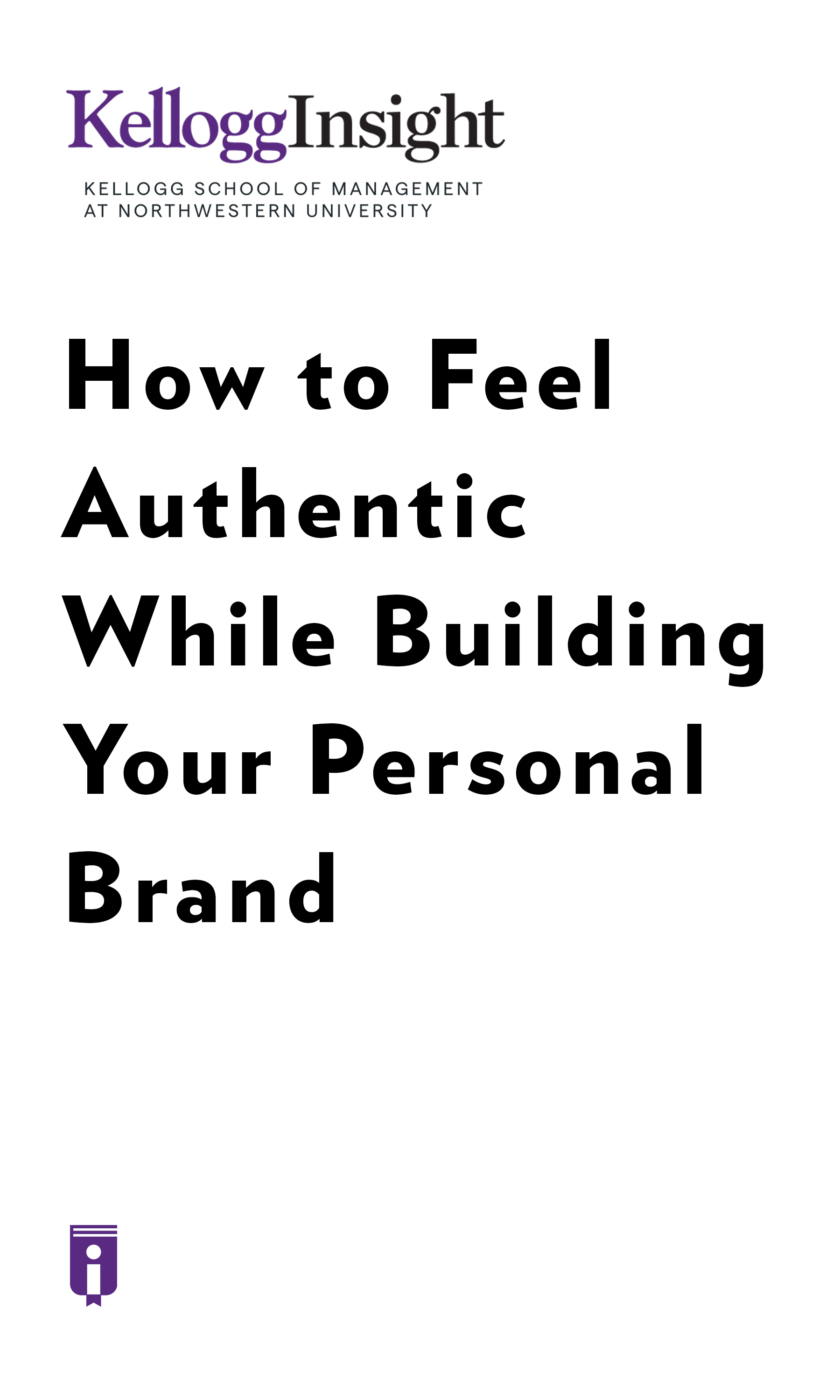 """Book Cover for """"How to Feel Authentic While Building Your Personal Brand."""""""