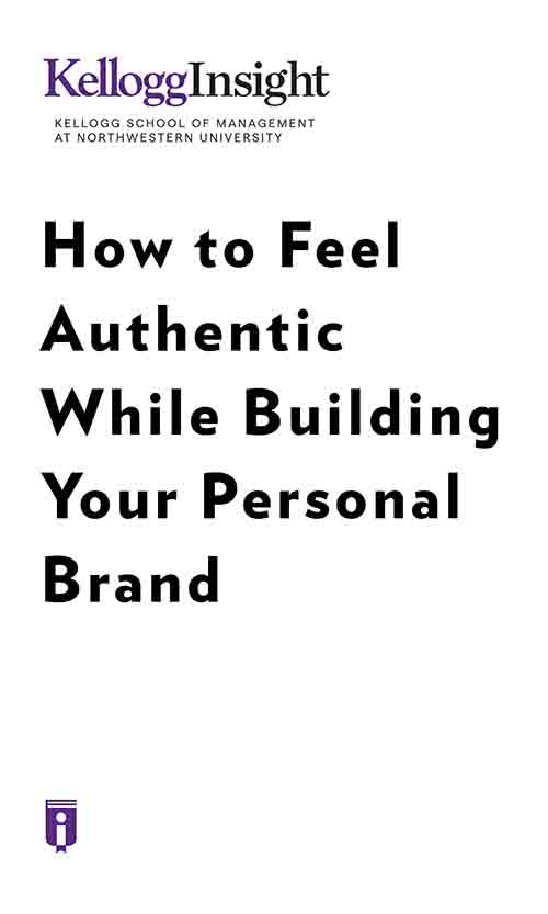 "Book Cover for ""How to Feel Authentic While Building Your Personal Brand."""
