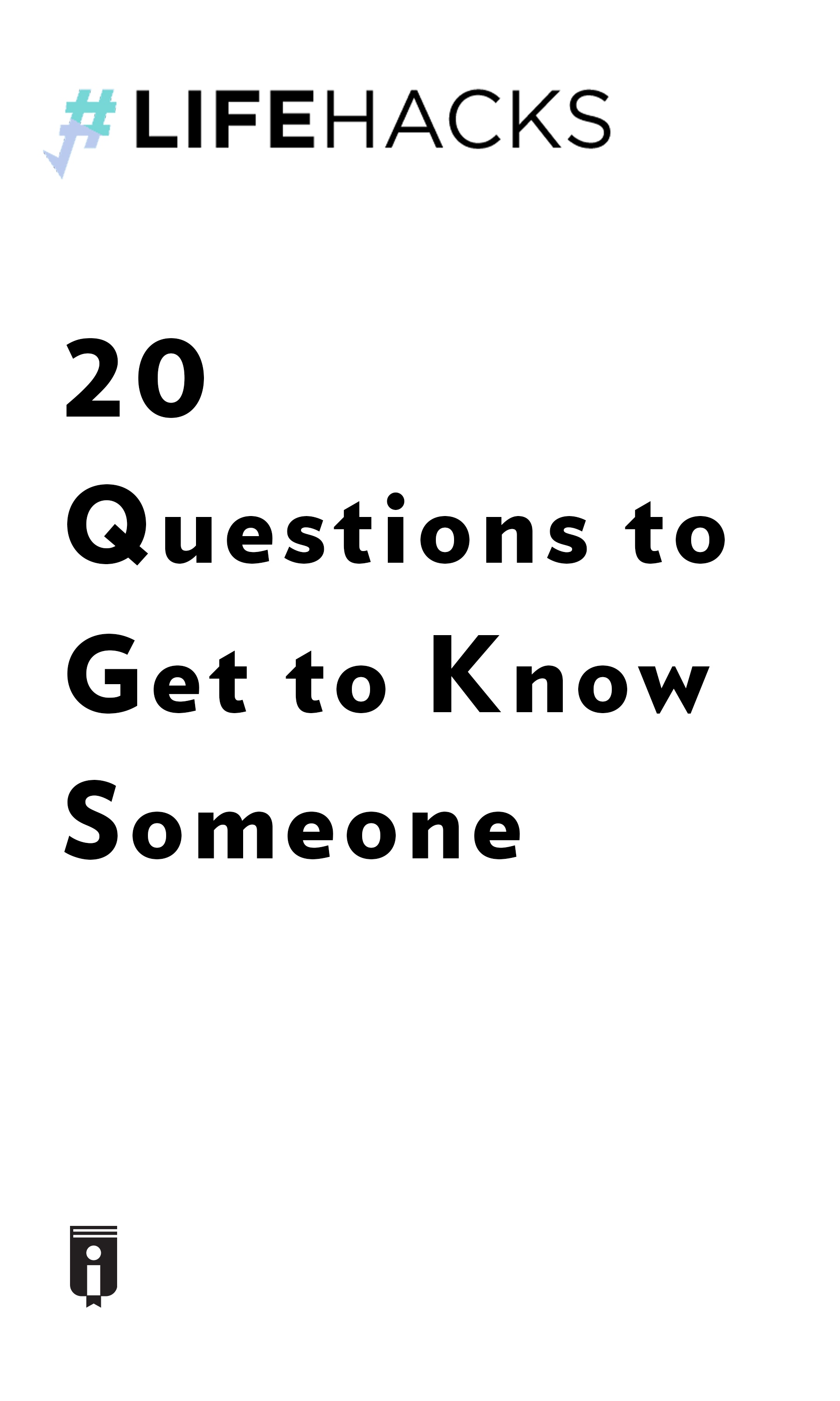 """Book Cover for """"20 Questions to Get to Know Someone"""""""