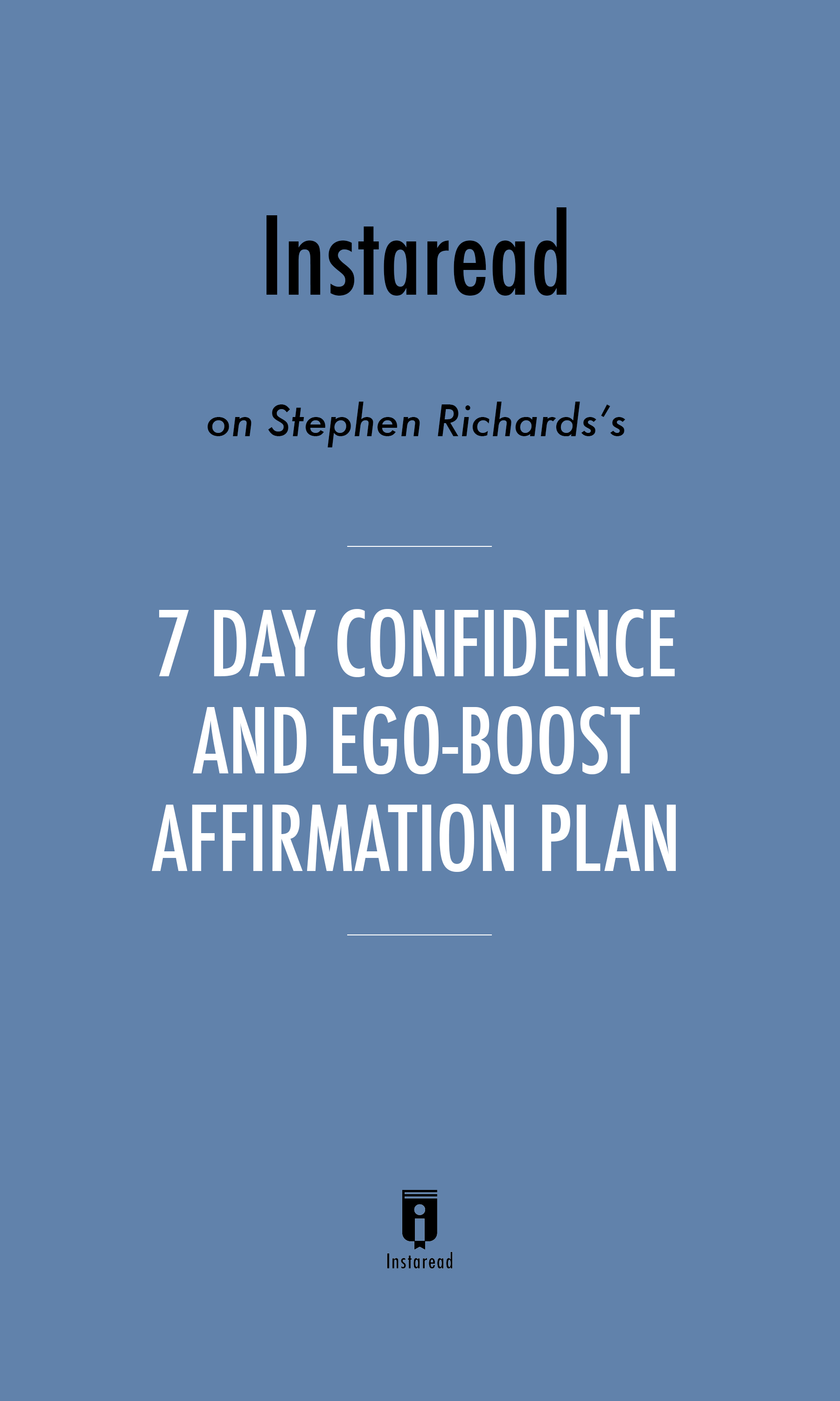 """Book Cover for """"7 Day Confidence and Ego-Boost Affirmation Plan"""""""