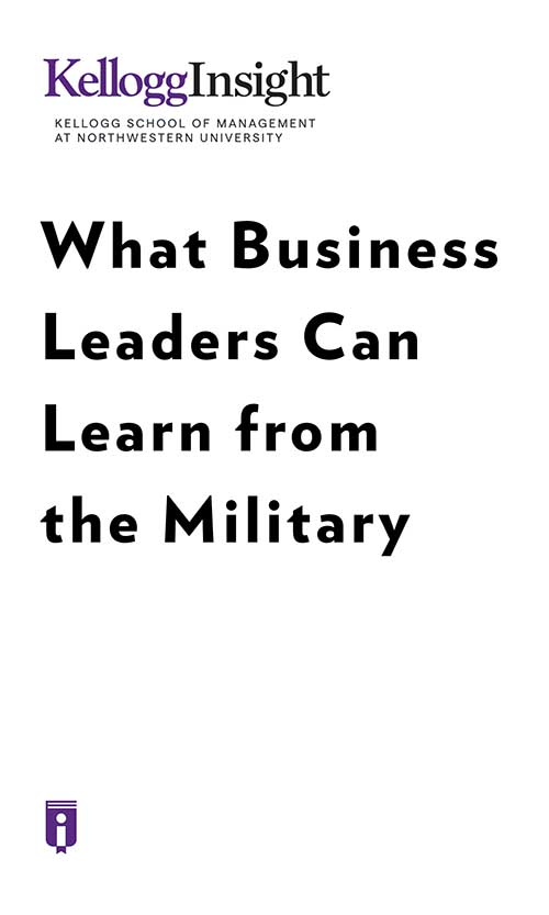 "Book Cover for ""What Business Leaders Can Learn from the Military"""
