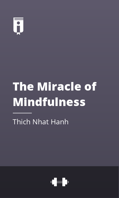 """Book Cover for """"The Miracle of Mindfulness"""""""