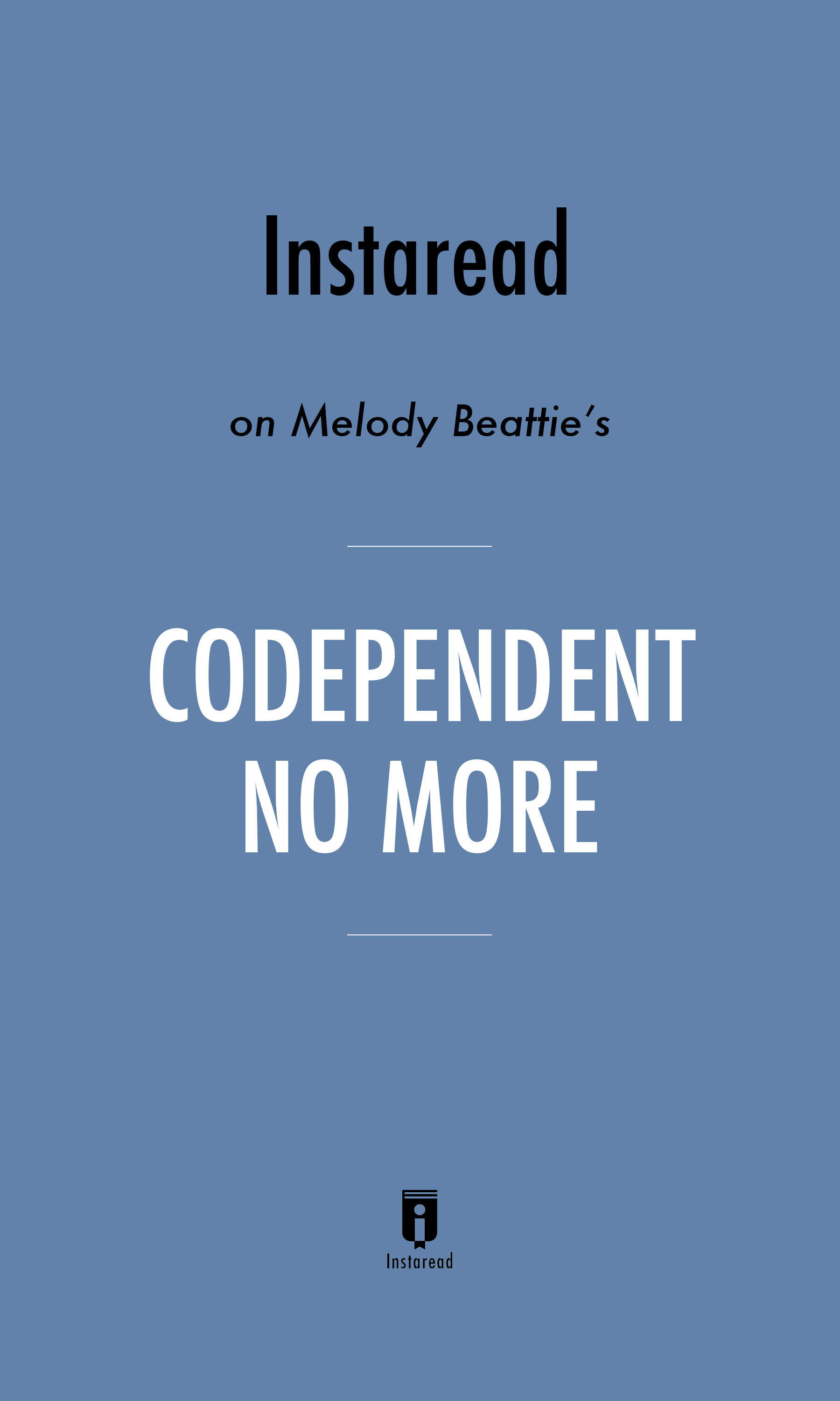 """Book Cover for """"Codependent No More"""""""