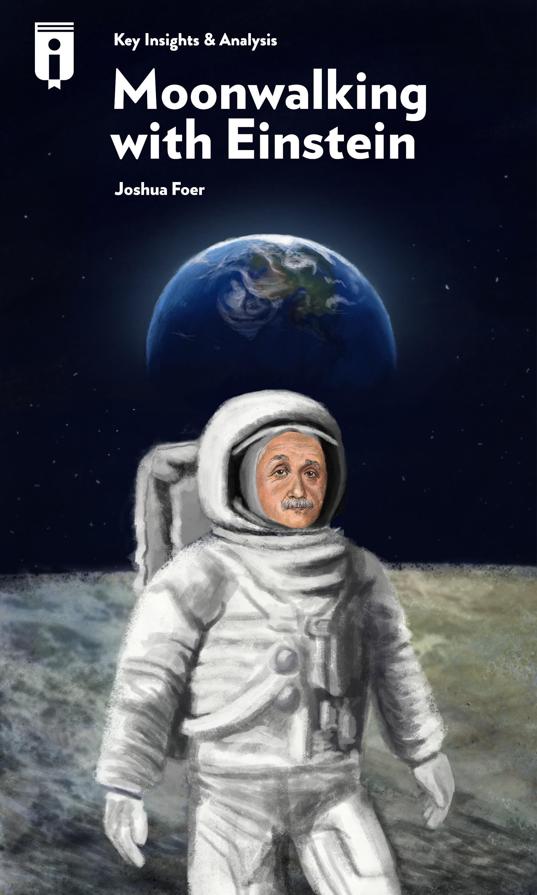 "Book Cover for ""Moonwalking with Einstein"""