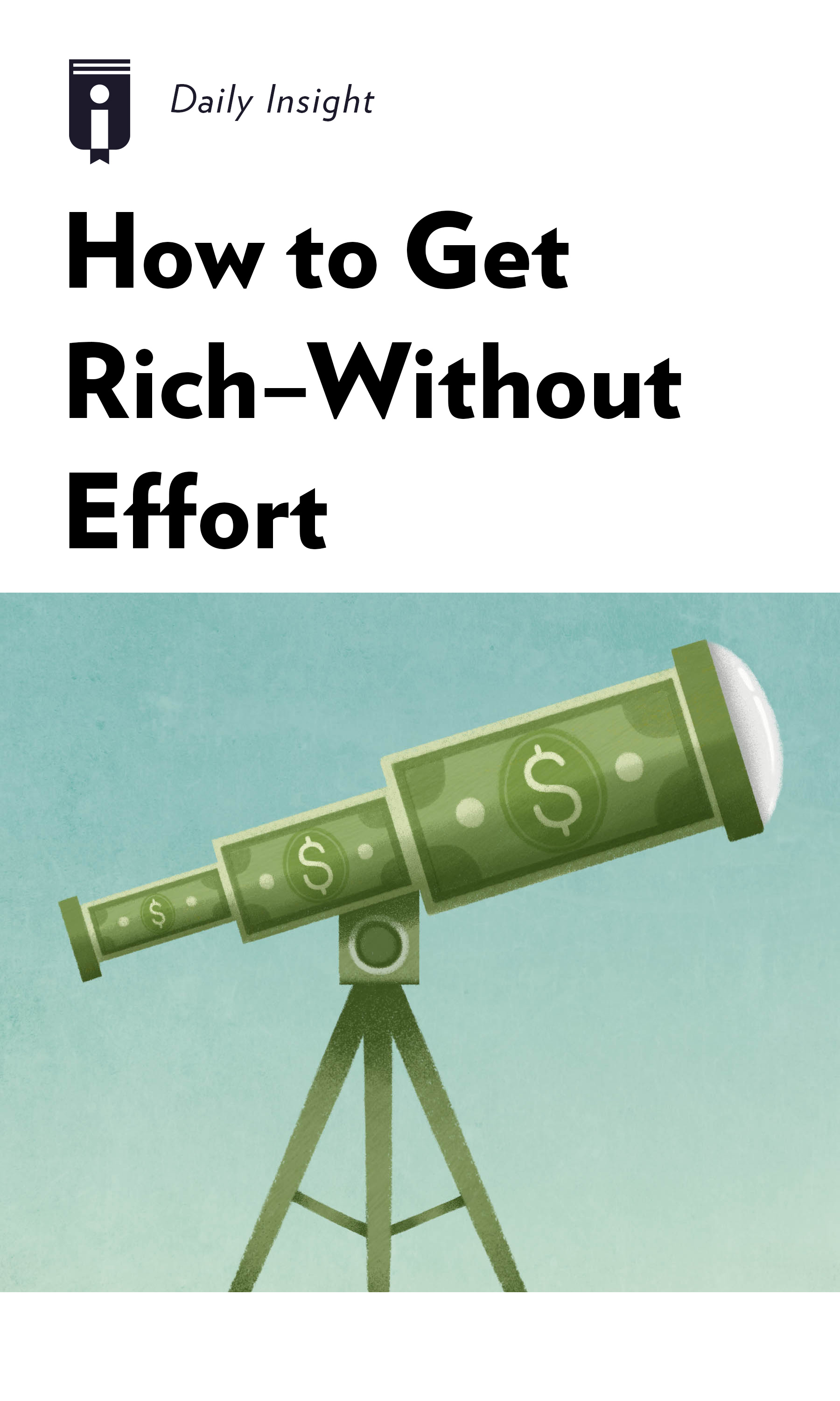 """Book Cover for """"How to Get Rich - Without Effort"""""""